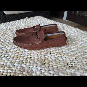 J&M Flex Brown Leather Loafers Men's Slip On